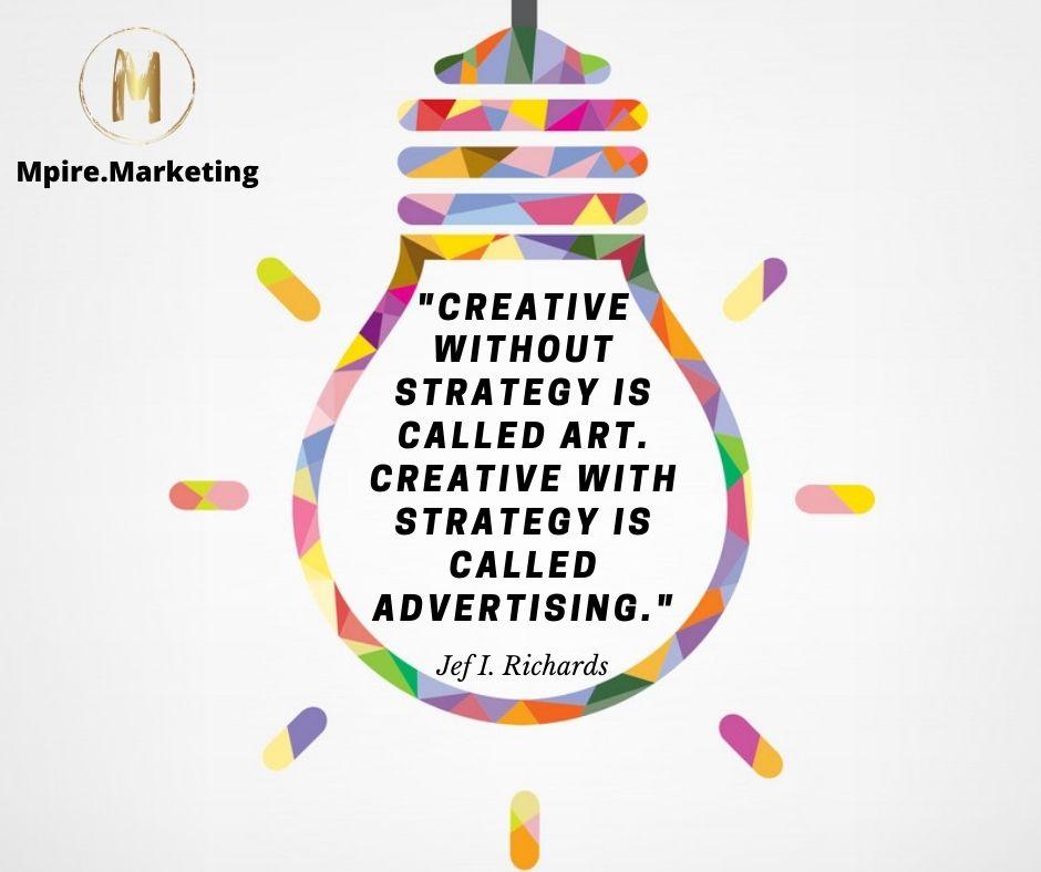 Light bulb show a creative idea