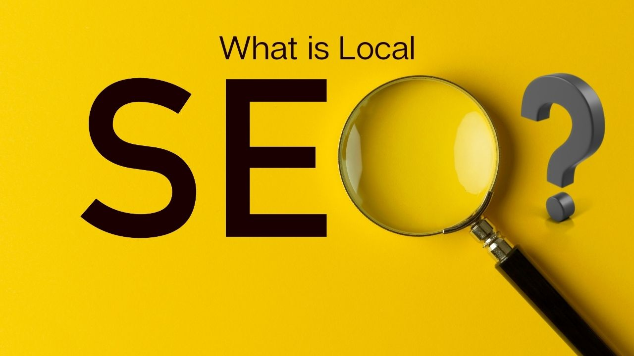 """What is Local SEO with the """"O"""" as a magnifying glass"""